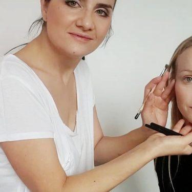 Nude makeup s Dominikou Morávkovou
