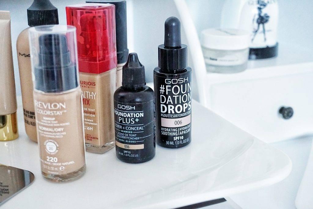 Ako vybrať ideálny makeup pre suchú pleť Gosh foundation drops plus