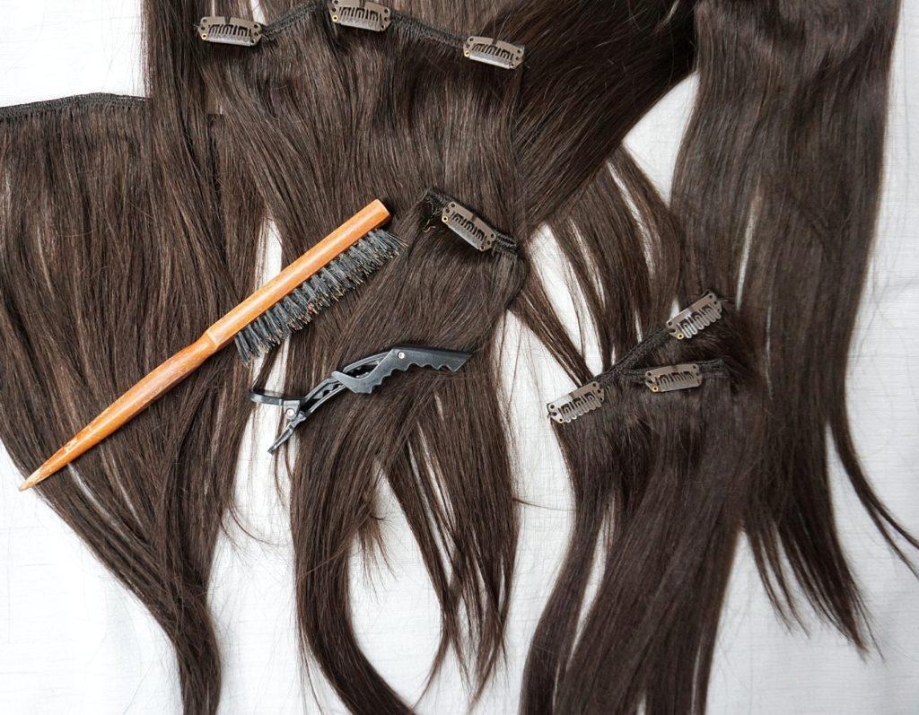 Clip-in vlasy Deluxe Tmavohnedá 35cm