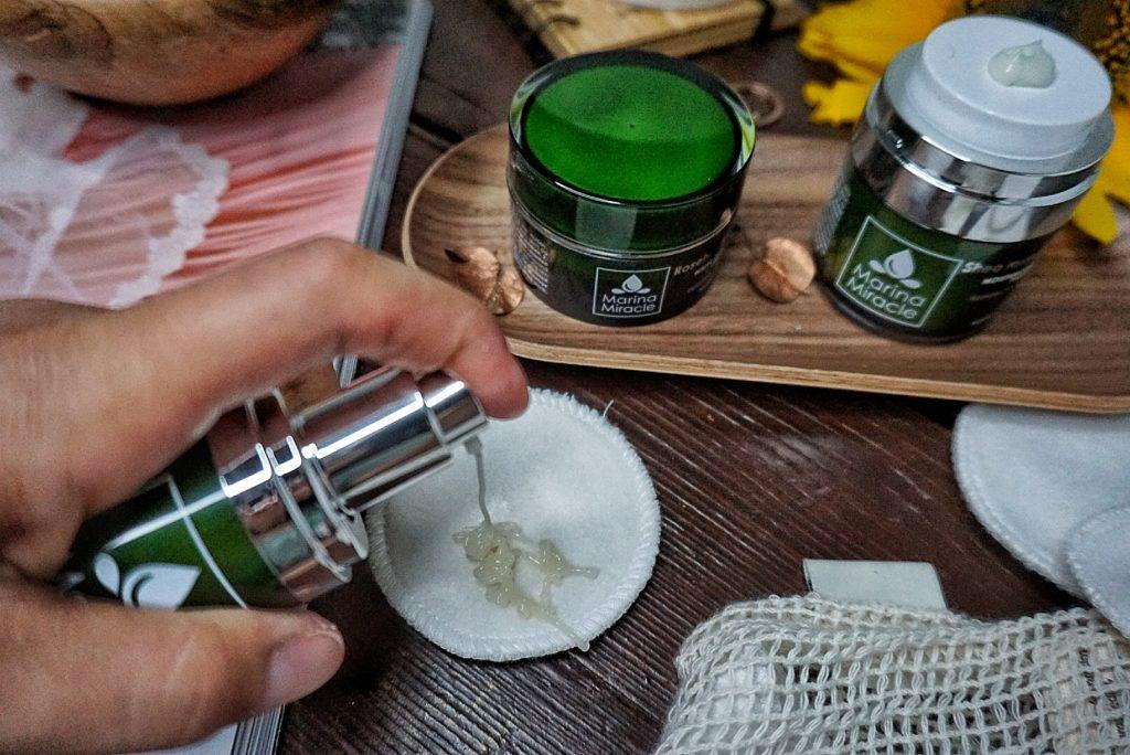 Marina Miracle skin care oil cleanser pleťové masky